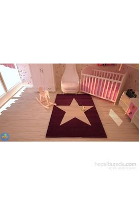 Poypoy Süperstar Mor Beyaz Anti Alerjik Çocuk Halısı 100X150cm