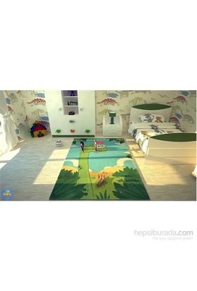 Poypoy Masal Sevimli Dinazor Çocuk Halısı 100x160 cm