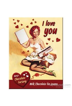 I Love You Chocolate Magnet