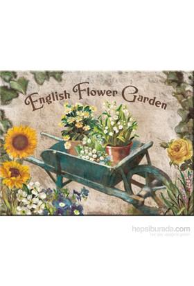 English Flower Garden Blue Barrow Magnet