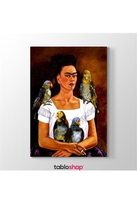 Tabloshop Frida Kahlo - Me And My Parrots Tablosu