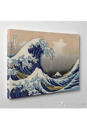 Tabloshop - Ando Hiroshihe - Wave Of Kanagawa Canvas Tablo - 75X50cm