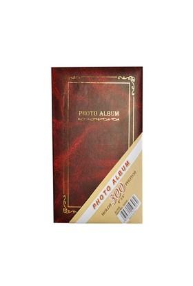 300'Lük Ciltbezli Fotoğraf Albümü 2'Li Set-Kırmızı