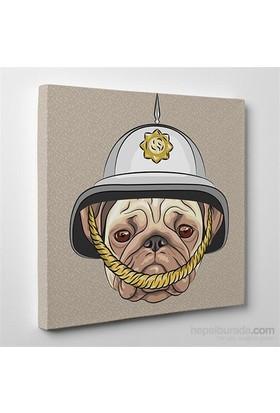Tabloshop Police Bulldog Kanvas Tablo