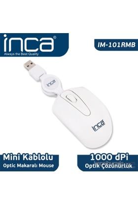 Inca Usb Mini Makaralı Beyaz Mouse IM-101RMB