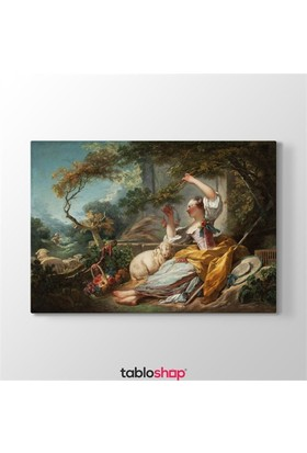 Tabloshop Jean Honore Fragonard - The Shepherdess Tablosu