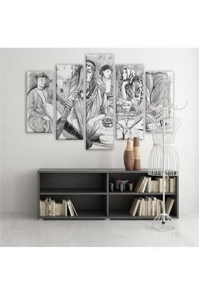 Dekoratif 5 Parçalı Kanvas Tablo-5K-Hb061015-125