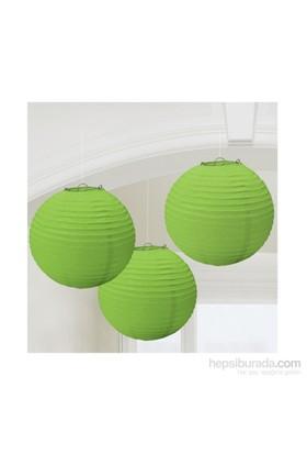 KullanAtMarket Yeşil Kağıt Fener Seti 3 Adet