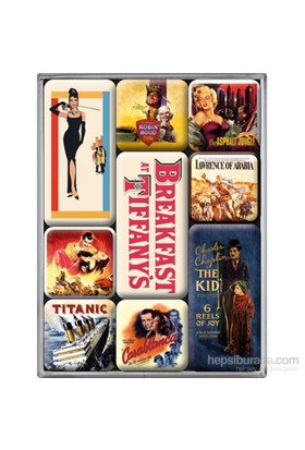 Movie-Art Retro Magnet Set (9 Parça)