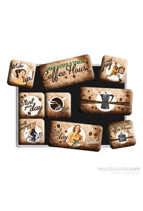 Coffee House Magnet Set (9 Parça)