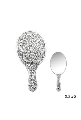 Bayan Lili Menekşe Motifli El Aynası