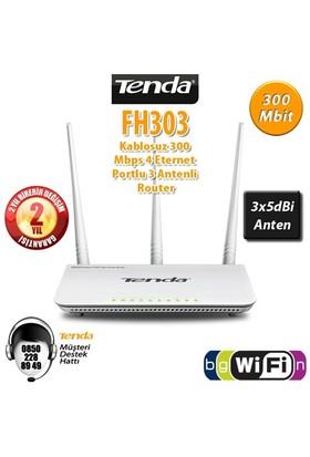 Tenda FH303 4Port 300Mbps 3 Anten HighPower Router