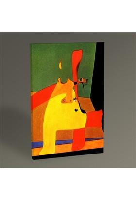 Tablo 360 Joan Miro Boşluktaki Alev Ve Çıplak Kadın 60X40