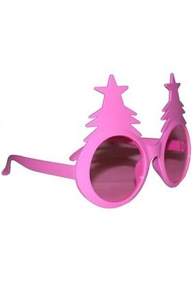 Pandoli Pembe Renkli Çam Ağacı Şekilli Gözlük