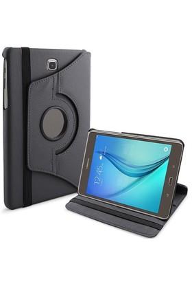 Microsonic 360 Rotating Stand Deri Samsung Galaxy Tab A 8.0'' T350 Kılıf Siyah