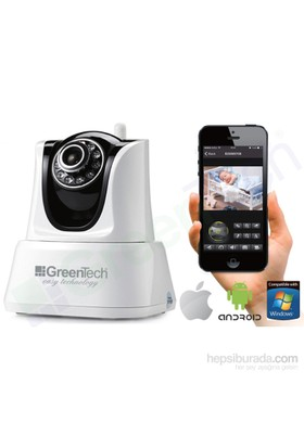 GreenTech GT-IP33HD Yatay /Dikey Hareketli Wireless-N Kablosuz IP-HD Kamera