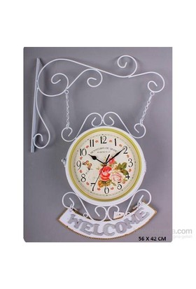 İstasyon Dekoratif Duvar Saati Met Clock-20