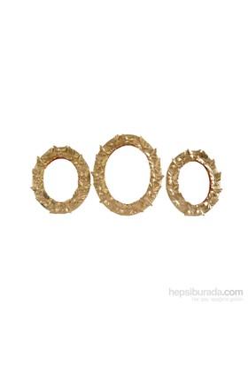 Gold Dekor Kelebek Ayna Altın Renk