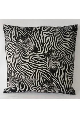 Desenli Keçeler Zebra Desenli Kare Keçe Yastık