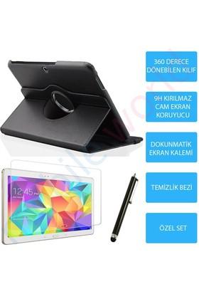 "Mobile World Samsung Galaxy T800 10.5"" Siyah Kılıflı 3 Parça Aksesuar Seti"