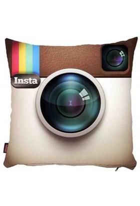 Bengü Accessories Instagram Logo Desenli Dekoratif Yastık 40X40 Cm