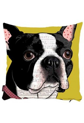 Bengü Accessories Köpek Desenli Dekoratif Yastık 12 40X40 Cm