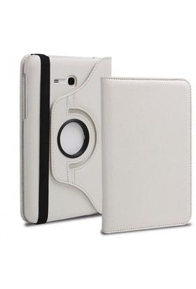 Romeca Samsung Galaxy Tab 3 Lite T110 7'' 360° Dönebilen Stand Beyaz Tablet Kılıfı