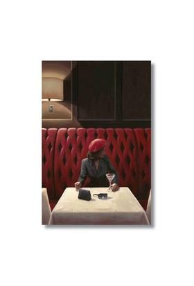 Ritmo-Kırmızı Şapkali Kadin Kanvas Tablo
