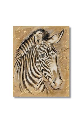 Ritmo-Zebra Sepya Kanvas Tablo