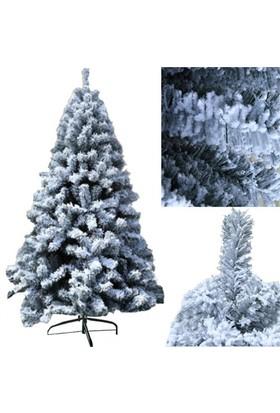 210 Cm Ladin Cinsi Kar Efekti Yılbaşı Çam Ağacı