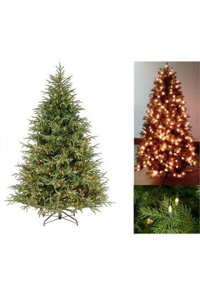 180 Cm Pvc Gövdeli Led Işıklı Lüx Yılbaşı Çam Ağacı