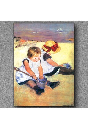 Tablom Plajda Oynayan Çocuklar Kanvas Tablo