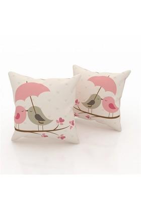 Erenev 9129 Aşık Kuşlar Dekoratif Yastık