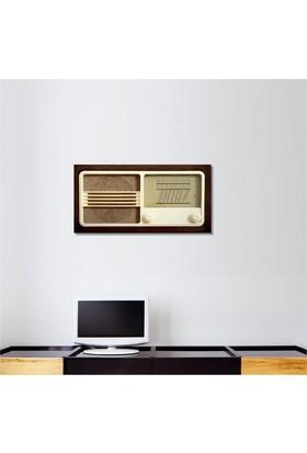 Tictac Eski Radyo 2 Kanvas Tablo - 40X80 Cm