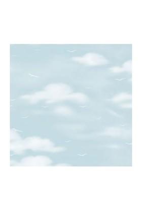 Golden Kids Mavi Bulut Desenli Çocuk Odası Duvar Kağıdı