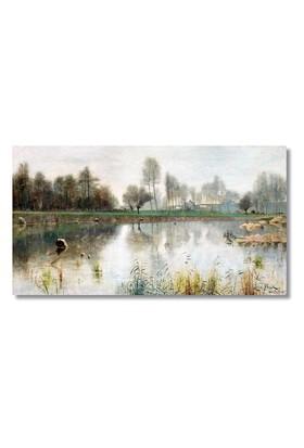 Tictac Göl Kanvas Tablo - 50X100 Cm