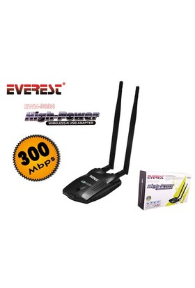 Everest EWN-689N 300Mbps Wireless Adaptor (1Km Menzil)