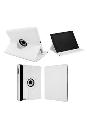 Cover Me İpad Pro Kılıf 360 Derece Dönebilen Standlı Kapaklı Beyaz