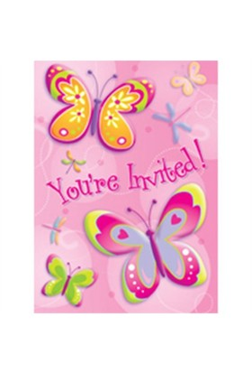 Pandoli Butterflies Dragonflies Davetiye 8 Adet