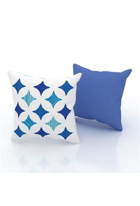 Erenev 9200 Mavi Yıldız Dekoratif Yastık