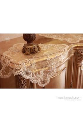 Evlen Home Collection Fransız Danteli Ağlı Salon Takımı - 16 Parça