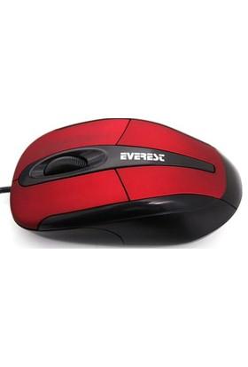 Everest SM-800 Kırmızı USB Optik Mouse