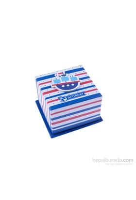 KullanAtMarket Kırmızı Mavi Vapurlu Hediye Kutusu 1 Adet