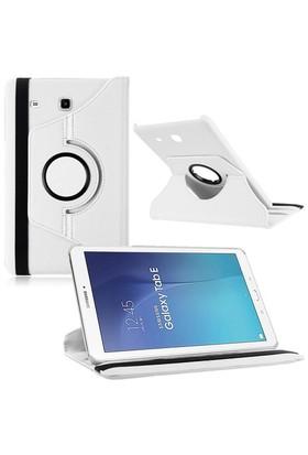 """Kılıfshop Samsung Galaxy Tab E Sm T560 9.6"""" 360° Dönebilen Kılıf Beyaz"""