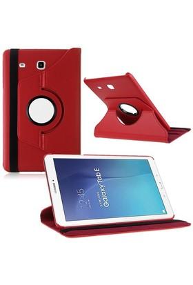 "Kılıfshop Samsung Galaxy Tab E Sm T560 9.6"" 360° Dönebilen Kılıf Kırmızı"