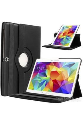 """Kılıfshop Samsung Galaxy Tab S Sm T800 10.5"""" 360° Dönebilen Kılıf Siyah"""