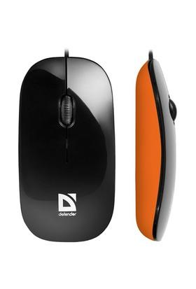 Defender NetSprinter MM-440 Siyah-Turuncu Kablolu Optik Mouse 52444