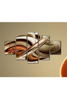 Tabloshop - Kp-26 5 Parçalı Canvas Tablo - 123X56cm