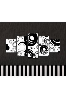 Tabloshop - Kp-27 5 Parçalı Canvas Tablo - 123X56cm