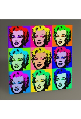 Tablo 360 Marilyn Monroe Pop Art Tablo 30X30
